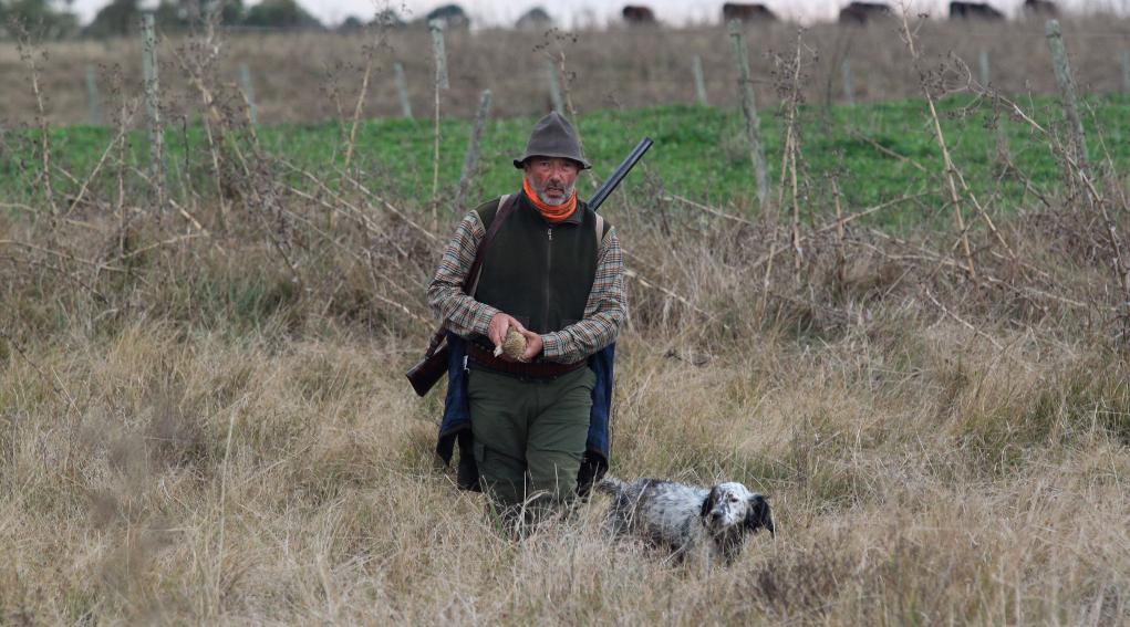sentieri di caccia aprile 2019: cacciatore di beccacce con cane