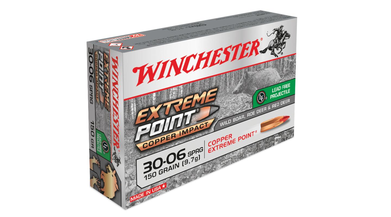 munizione lead free Winchester Extreme Point Copper Impact .30-06 Springfield