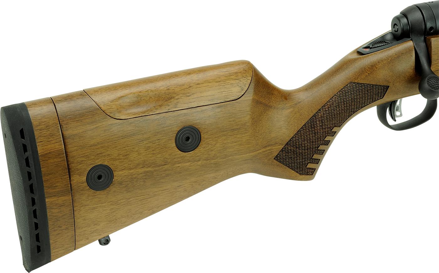 il calcio in legno di noce della carabina savage 100 classic