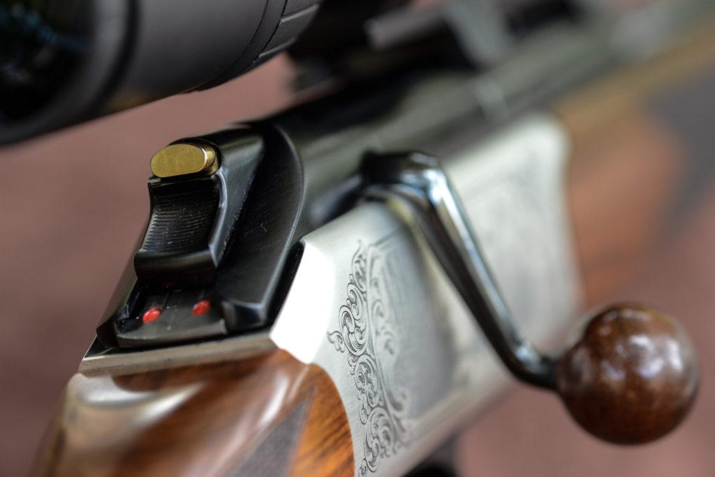 cursore per l'armamento manuale del percussore della carabina straight-pull Chapuis Rols Deluxe