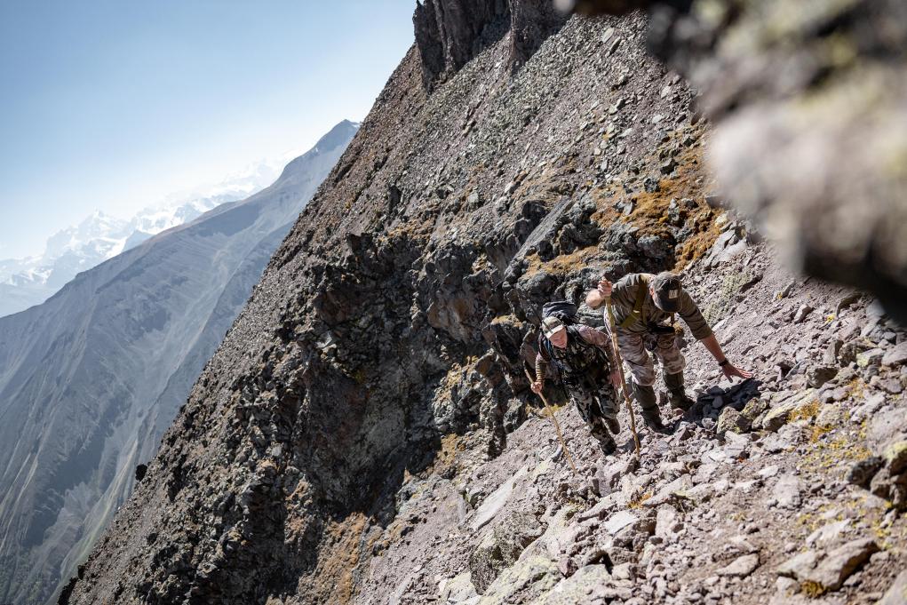 la caccia all'estero in montagna non è mai una caccia facile