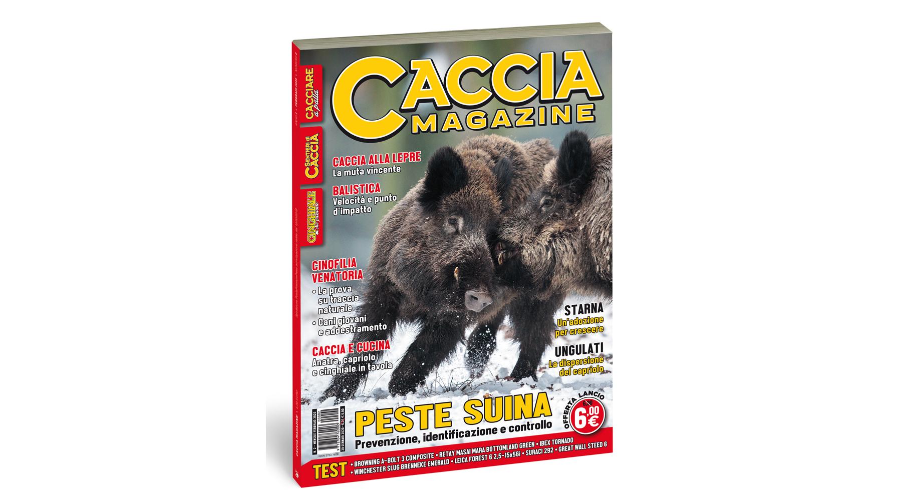 Caccia Magazine febbraio 2020 in edicola dal 20 gennaio