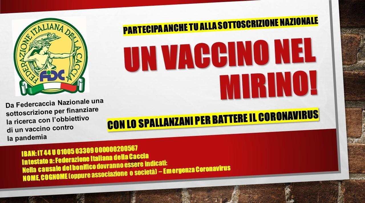 Vaccino per il Covid-19 l'iniziativa di Federcaccia