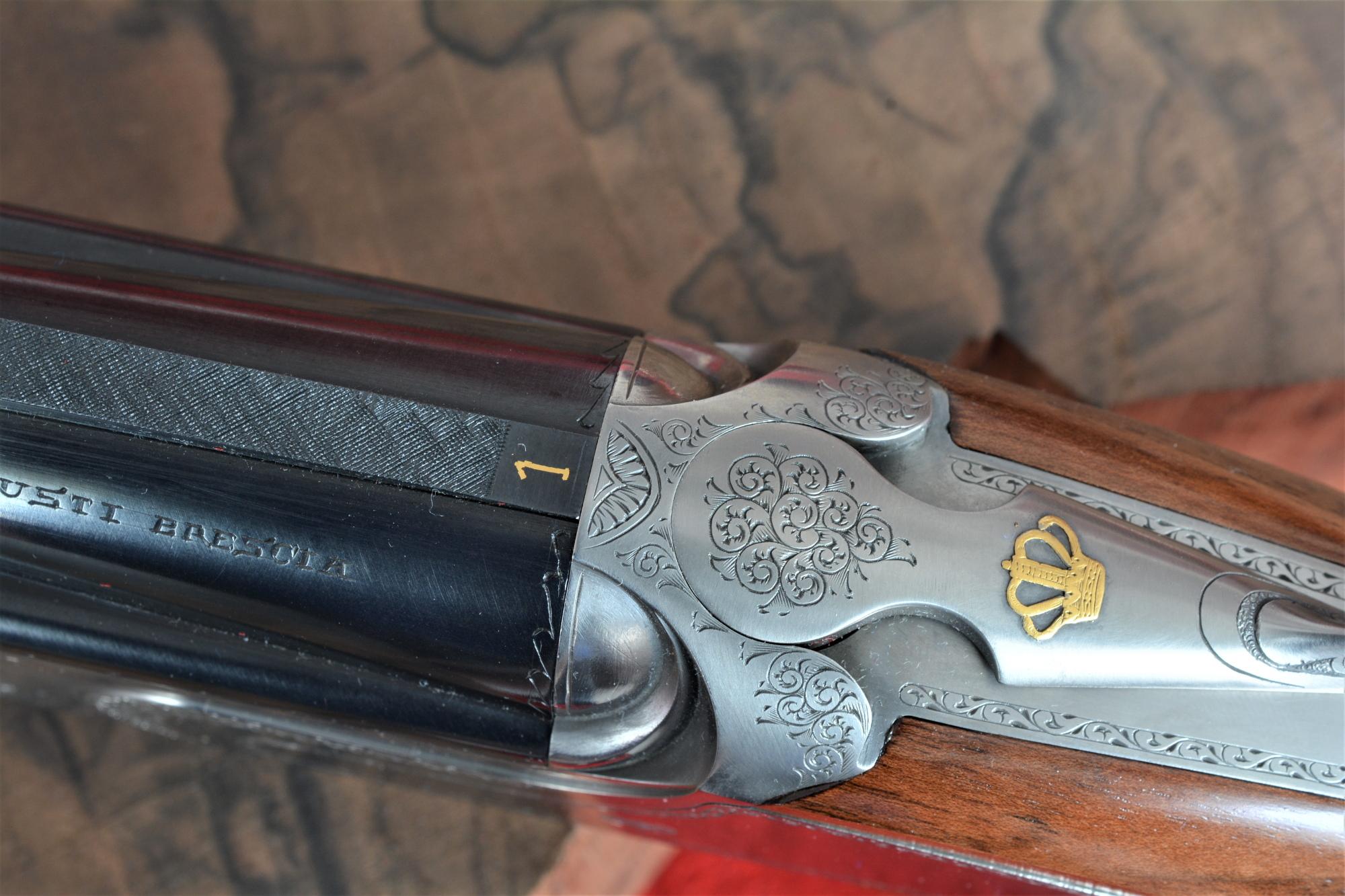 dettagli in oro del fucile Fausti Class SL Drive Edition