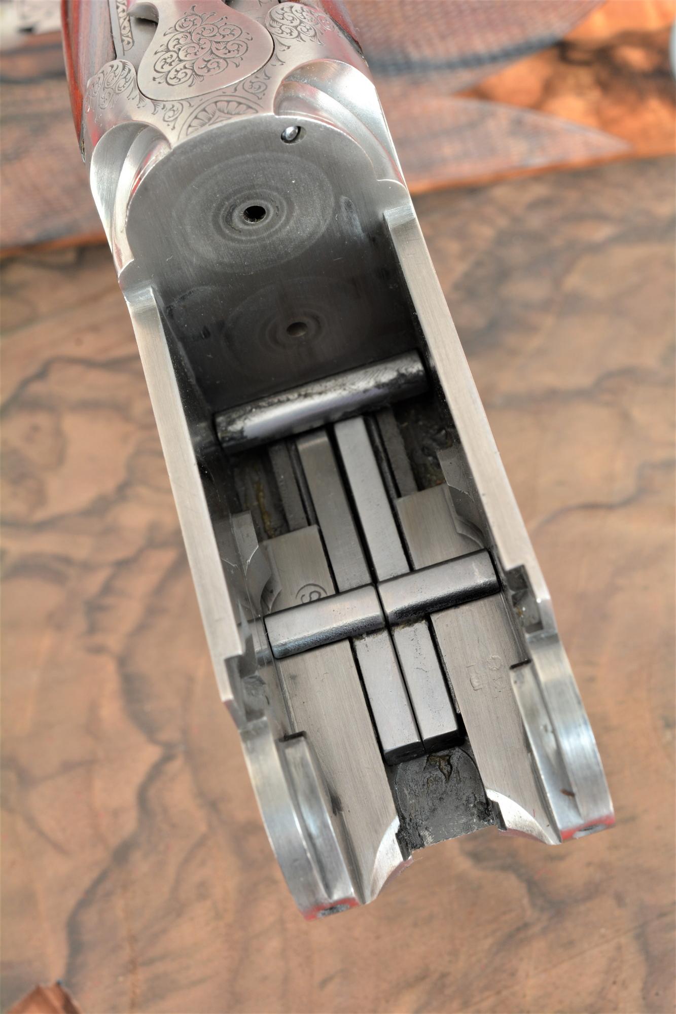 interno della bascula del fucile Fausti Class SL Drive Edition