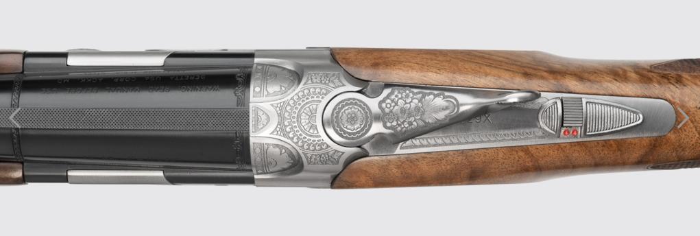 vista superiore del fucile beretta 687 silver pigeon iii