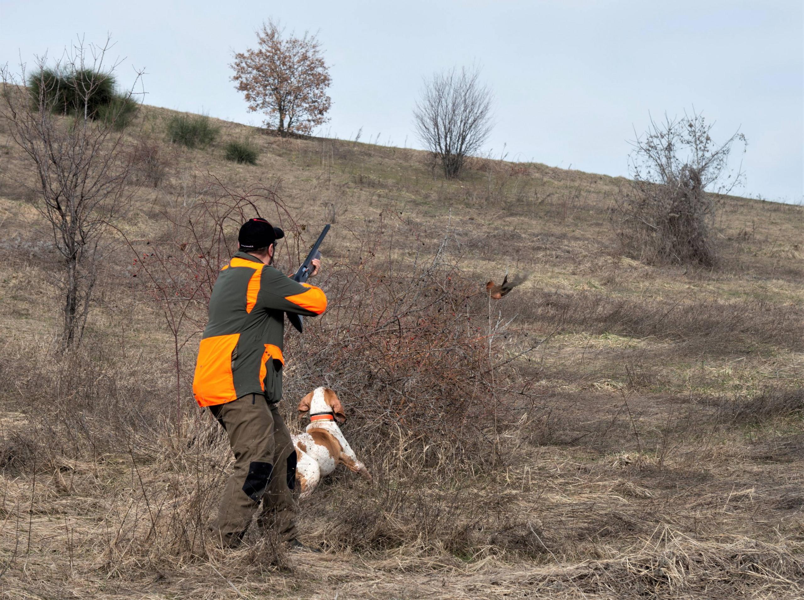 azione di caccia con il fucile specialista benelli mygra
