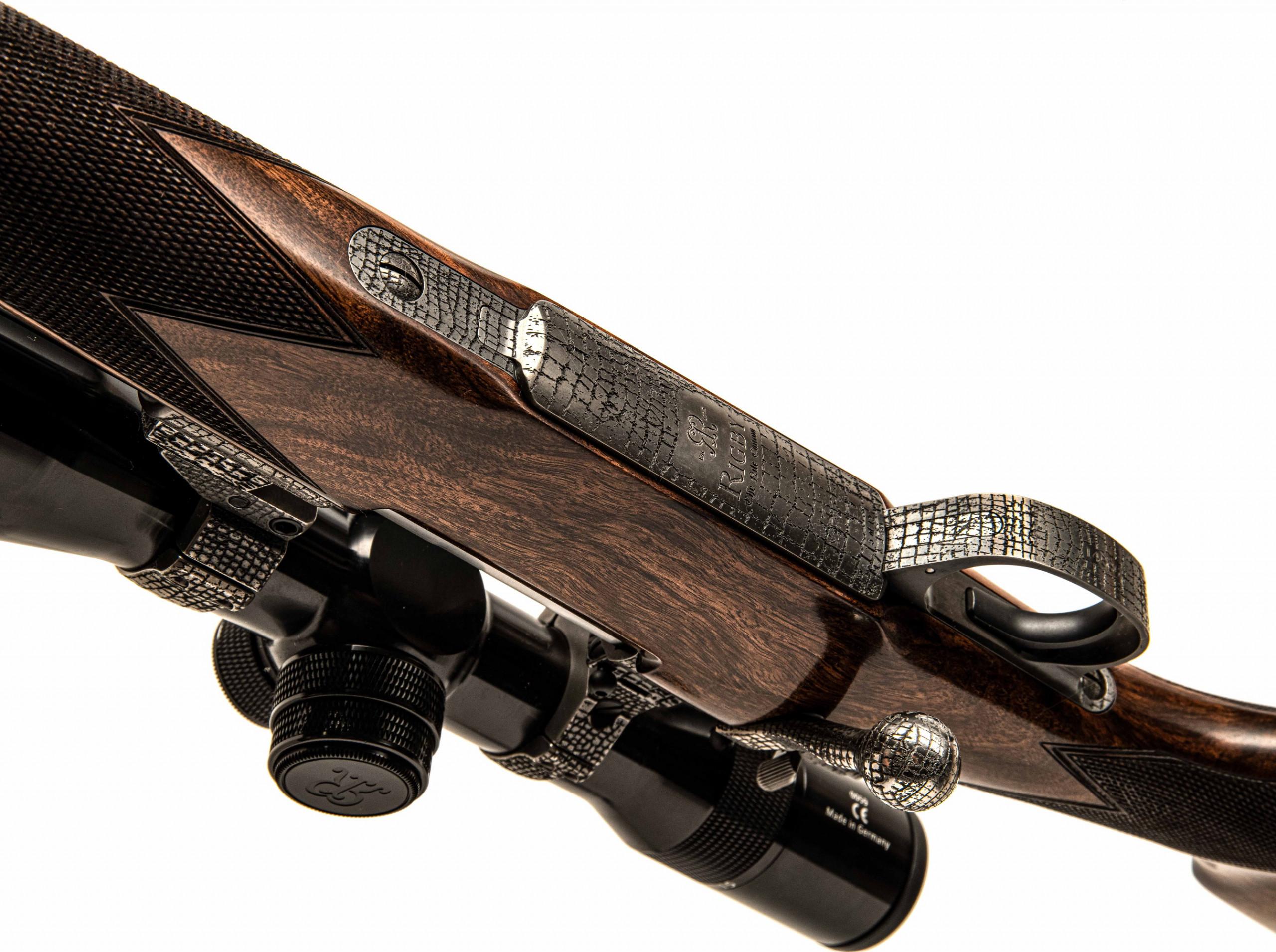 parte inferiore della carabina bolt-action in edizione limitata Rigby Highland Stalker Nile